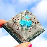 Dekorácie - Andělský květ * Blankyt * Pyramid velká pro Komunikaci - 10220925_