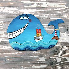 Obrázky - Veľryba s parníkom - 10222198_