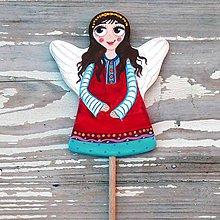 Dekorácie - Anjelik zápich - 10222245_