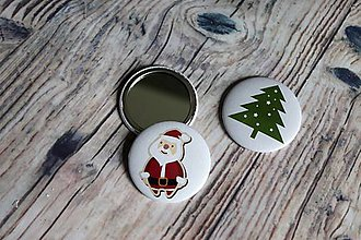 Odznaky/Brošne - zrkadielko (stromček) - 10220244_