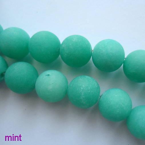 Jadeit matný 12mm-1ks (mint)