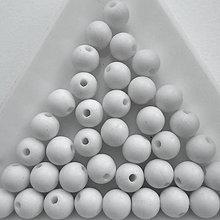 Korálky - Plast MATT 6mm-30ks - 10220746_