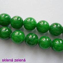 Minerály - MARBLE kameň 10mm-sklený-1ks - 10222140_