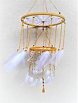Dekorácie - Veľký lustrový lapač snov. - 10221750_