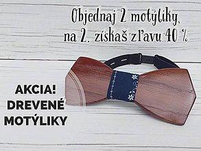 Doplnky - Pánsky drevený motýlik - 10222517_