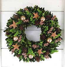 Dekorácie - Vianočný venček prírodný - 10220697_