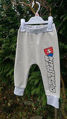 Detské oblečenie - Maľované tepláčiky SLOVENSKO - 10222224_