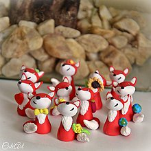 Darčeky pre svadobčanov - Darčeky pre hostí, menovky - líšky - 10221606_