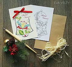 Drobnosti - Vianočné pohľadnice sada - 10222595_