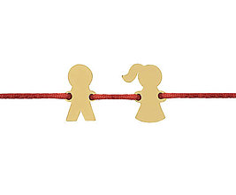 Náramky - Náramok s postavičkami dievčatko a chlapec - 10223086_