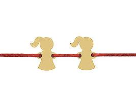 Náramky - Náramok s postavičkami dievčatká - 10223109_