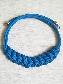 Náhrdelníky - Paracord náhrdelník Natálka- modrý - 10220114_