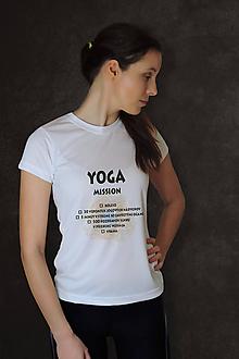 Tričká - Tričko s YOGA výzvou - 20% zľava - 10222369_