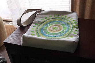 Iné tašky - Taška s ručne maľovanou mandalou - 10220476_