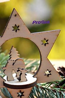 Dekorácie - Hviezda s postavičkami - 10221452_