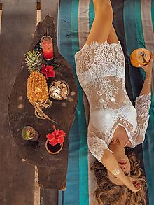 Šaty - Plážové šaty z mäkkučkej krajky - 10223105_