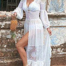Šaty - Šaty v Boho štýle so spodničkou - 10223327_