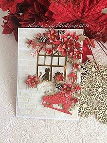 Papiernictvo - Pohl'adnica  Vianočné okno (Pohl'adnica  Vianočné okno) - 10220812_
