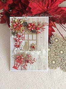 Papiernictvo - Pohl'adnica  Vianočné okno (Pohl'adnica  Vianočné okno) - 10220814_