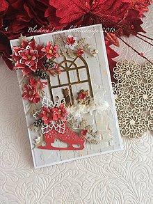Papiernictvo - Pohl'adnica  Vianočné okno (Pohl'adnica  Vianočné okno) - 10220816_
