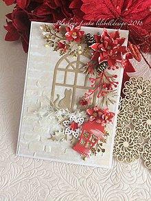 Papiernictvo - Pohl'adnica  Vianočné okno (Pohl'adnica  Vianočné okno) - 10220817_
