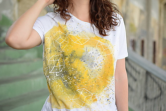Tričká - Dámske tričko YELLOW LOVE - 10220802_