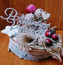 Dekorácie - Požehnané Vianoce - 10221869_