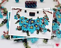 Náhrdelníky - Šitý korálkový náhrdelník - 10220535_