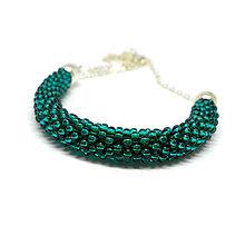 Náhrdelníky - SNAKE smaragdovozelený elegantný náhrdelník - 10220129_