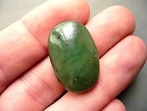 Minerály - Kabošon - jadeit 27 mm, č.2f - 10221580_