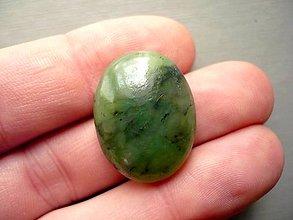 Minerály - Kabošon - jadeit 25 mm, č.3f - 10221600_