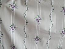 Textil - ruže do fialova na pruhu - 10222473_