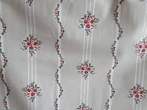 Textil - látka ruže v modrej,staroružovej a bordovej na pruhu - 10222480_
