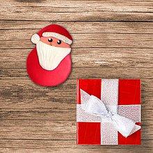 Magnetky - FIMO vianočná guľa magnetka - Santa Claus - 10220092_