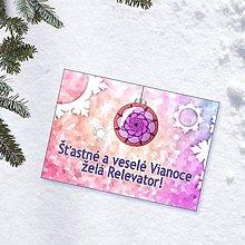 Papiernictvo - Zamrznutá vianočná pohľadnica 1 - 10222048_