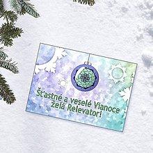 Papiernictvo - Zamrznutá vianočná pohľadnica 3 - 10222061_