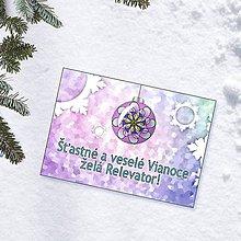 Papiernictvo - Zamrznutá vianočná pohľadnica 2 - 10222062_