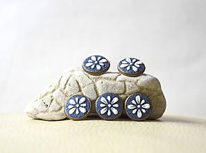 Drobnosti - Folk gombíky - modré - 10224090_