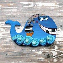 Nábytok - Veľryba u pirátov - vešiak - 10224062_