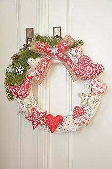 Dekorácie - Veľký veniec na dvere cottage - 10226471_