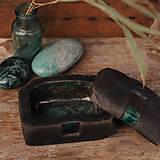Nádoby - RAKU dóza kameň - 10224763_
