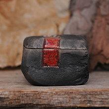 Nádoby - RAKU dóza kameň - 10224711_