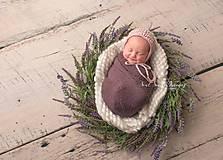 Detské čiapky - Čiapka pre novorodenca - 10223772_