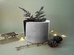 Nádoby - betónový kvetináč Black and White - 10226221_