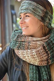 Ozdoby do vlasov - čelenka melír do zelená - 10214940_
