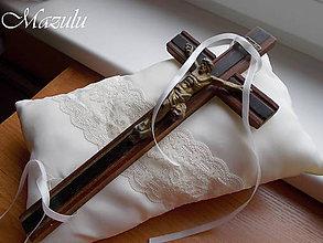 Prstene - svadobný vankúšik pod krížik III. - 10224503_
