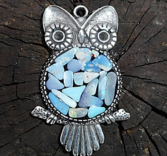 Náhrdelníky - the owl..with happy II from your heart... - 10227260_