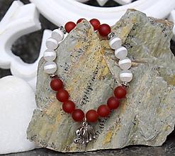 Náramky - Mantra minerál Achát dzi a Achát