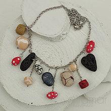 Náhrdelníky - náhrdelník - rôzne kamienky - 10226452_