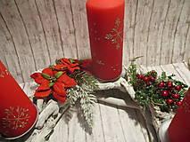 Dekorácie - Adventný svietnik - 10227008_